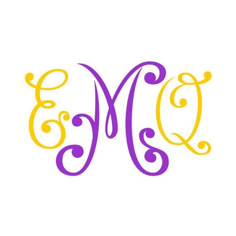 Svg files are for use with other vector and craft imaging programs. Monogram Font svg Cricut Fonts Silhouette Cameo font