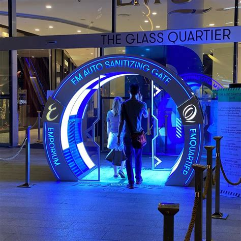 """""""Sanitizing Gate"""" installed at the entrance of a mall in"""