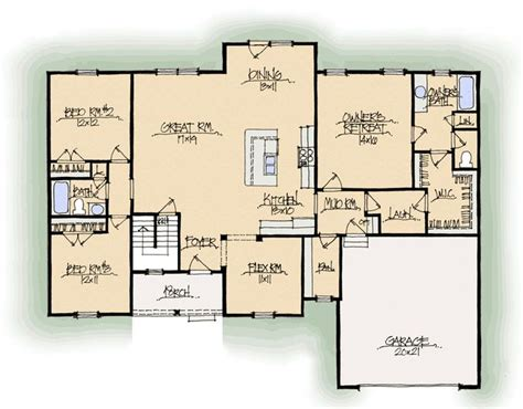 santa barbara  midwest schumacher homes floor plan