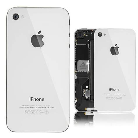 iphone 4s back glass replacement white iphone 4s back housing rear glass cover replacement Iphon