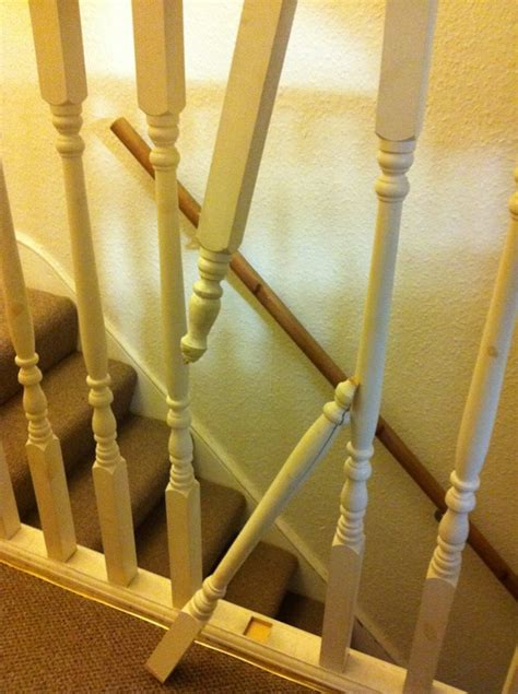 repair banister spindles handyman job  harrow