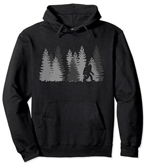 bigfoot hoodie hoodies yours pine several pick trees colors favorite front