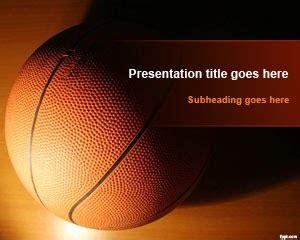 template bola basket  powerpoint gratis background