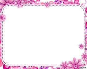 Free Flower Frame Powerpoint Template  Free Powerpoint