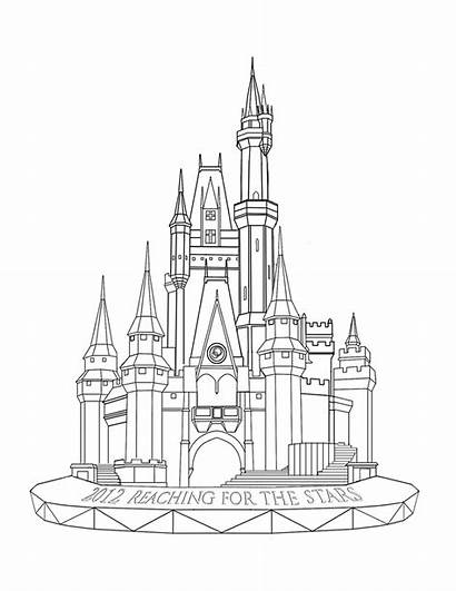 Castle Kingdom Magic Drawing Disney Coloring Pages