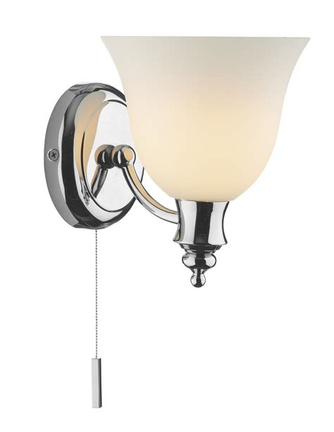 dar lighting obo0750 oboe 1 light polished chrome bathroom wall bracket lighting shop