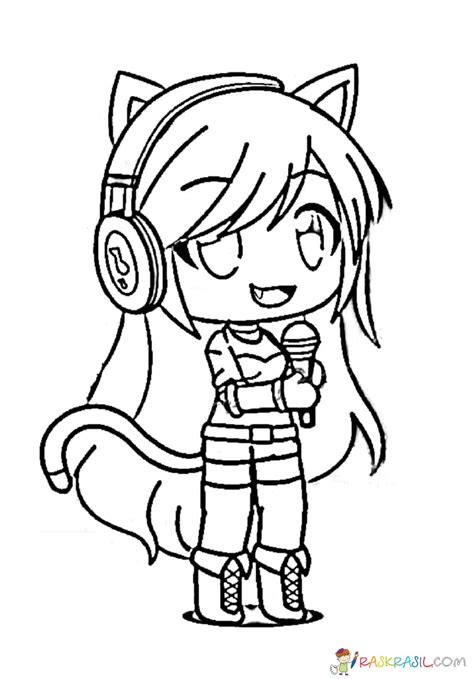 gacha life coloring pages unique collection print