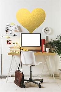gold heart wall decal chic home decor by twelve9printing With cute gold heart wall decals