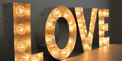 big light up letters large illuminated 39 love 39 sign hire rental