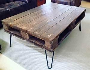 Table Pied Epingle : une palette en bois des pieds ripaton inclin s et ~ Edinachiropracticcenter.com Idées de Décoration
