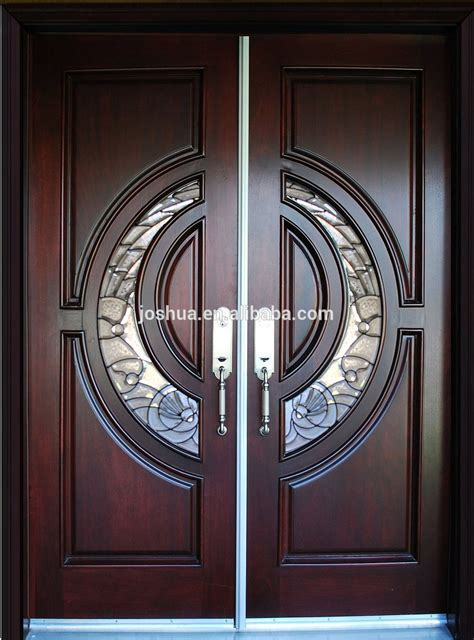 100% Mahogany Tiffany Wood Door Exterior Front Entry