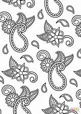 Coloring Paisley Pages Pattern Printable Drawing Dot Paper sketch template