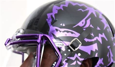 tcu  wear debut  chrome helmets  game