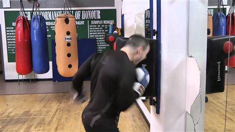boxing smashing  wall pad youtube