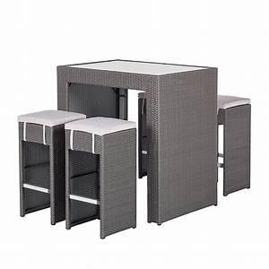 Polyrattan Lounge Grau : barset paradise lounge 5 teilig polyrattan grau ebay ~ Indierocktalk.com Haus und Dekorationen