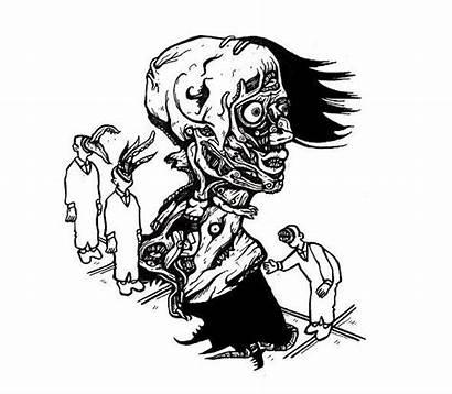 Comics Drawings Creepy Strange Faces Surreal Weird