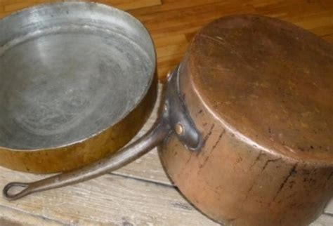 antique copper cookware set   omero home