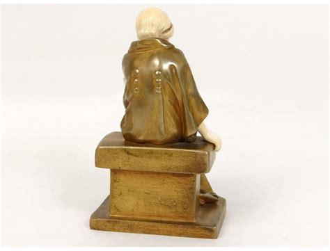 bronze ivory sculpture chryselephantine bclemente woman