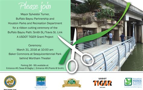 tiger trail ribbon cutting buffalo bayou