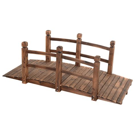 5 wooden bridge stained finish decorative solid wood