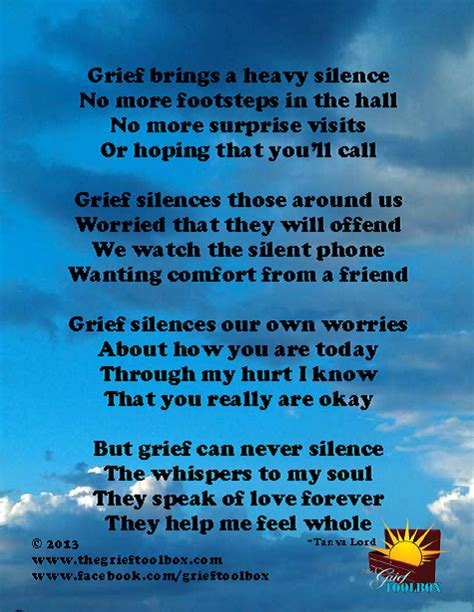 grief   silence love  poem  grief toolbox