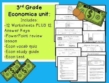 complete economics unit for third graders tons of