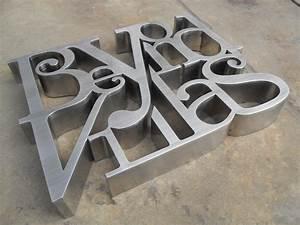 custom 3d sign lettering stainless steel channel letters With custom stainless steel letters