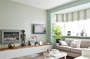 wandgestaltung mit tapeten frische ideen fur den fruhling With balkon teppich mit tapeten tv