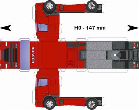 daf bussertrucking paper trucks paper models truck