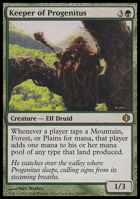 progenitus deck tapped out keeper of progenitus mtg card