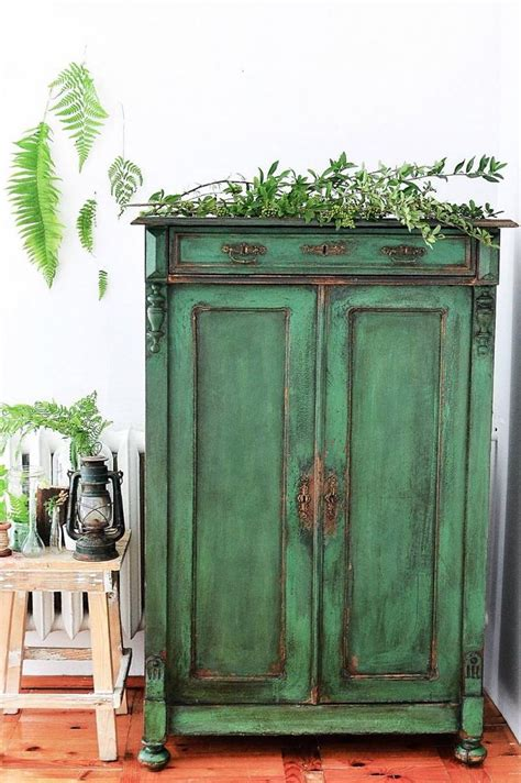 Painted Armoire Furniture 25 Best Ideas About Green Distressed Furniture On