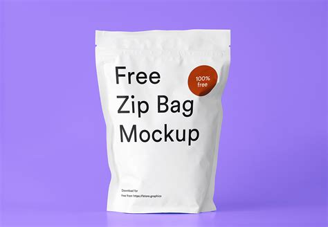 Includes special layers and smart objects for your work. Free Zip Bag Mockup | Free Mockup