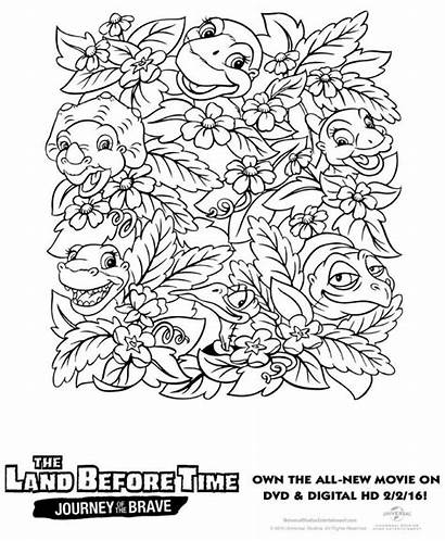 Land Coloring Before Pages Dinosaur Printable Colouring