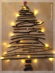 Weihnachtsbaum Mit Lichterkette : weihnachts leinwand mit lichterkette selber machen ~ A.2002-acura-tl-radio.info Haus und Dekorationen