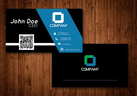 Black And Blue Creative Business Card Vector Business One Card Online Organizer Computer Best Website Maker Visiting Paper India Au Pan Apply App Mac