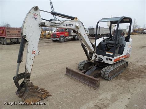 bobcat  mini excavator  newton ia item dz sold purple wave