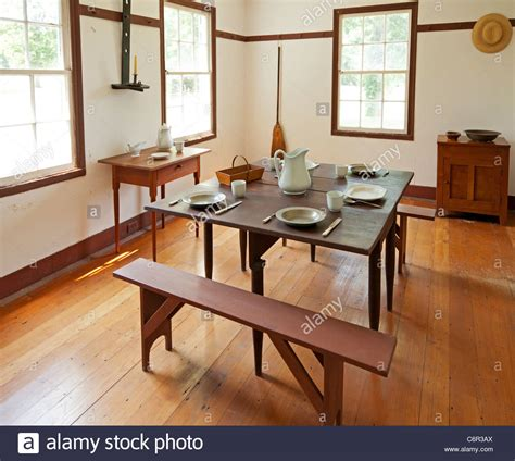 Dining Room Interior In A Shaker Home Stock Photo Royalty