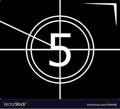 Countdown Number Icon Simple Vector Film