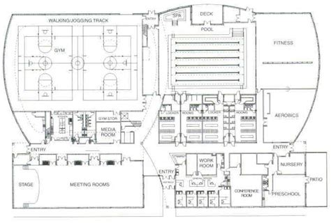 community center plan plan pinterest ontario floor