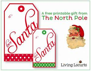 Santa Gift Tags from The North Pole