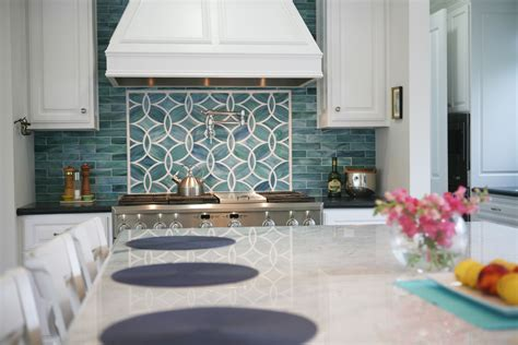 blue tile backsplash kitchen glass backsplash ideas kitchen traditional with blue glass