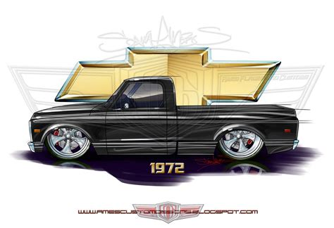 sam ames  chevy  shortbed fleetside