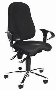 Topstar Chaise De Bureau Sitness 10 Noir Calipage