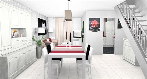 decoration sejour gris et blanc deco cuisine noir blanc gris