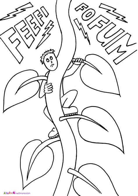 Jack And The Beanstalk Coloring Pages Coloring Home
