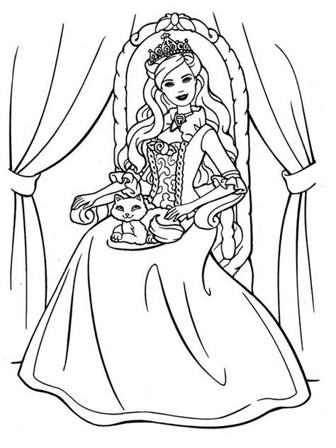 printable barbie coloring pages  kids