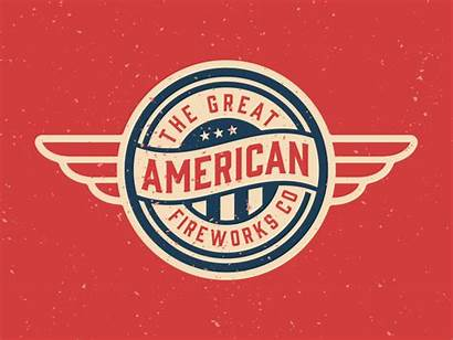 Patriotic American Brand Fireworks America Dribbble Icon
