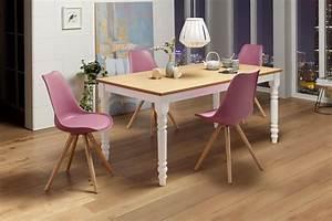 Home Affaire Tisch Cisa Mit Gedrechselten Beinen Aus