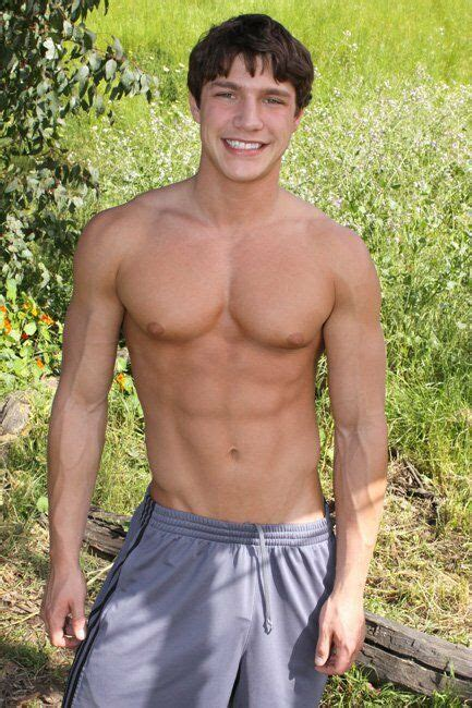 Shirtless Male Muscle Guy Jock Athletic Shorts Smiling