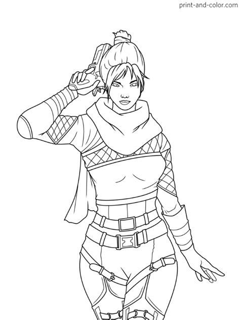 Apex Legends coloring pages | Coloring pages, Legend